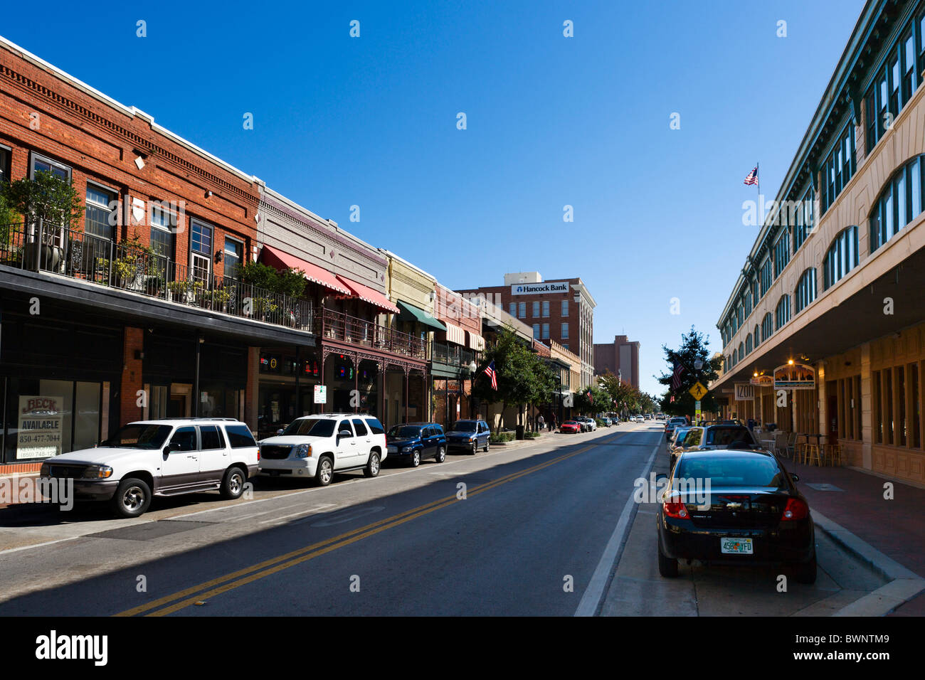 Palafox Street In Historic Downtown Pensacola Gulf Coast