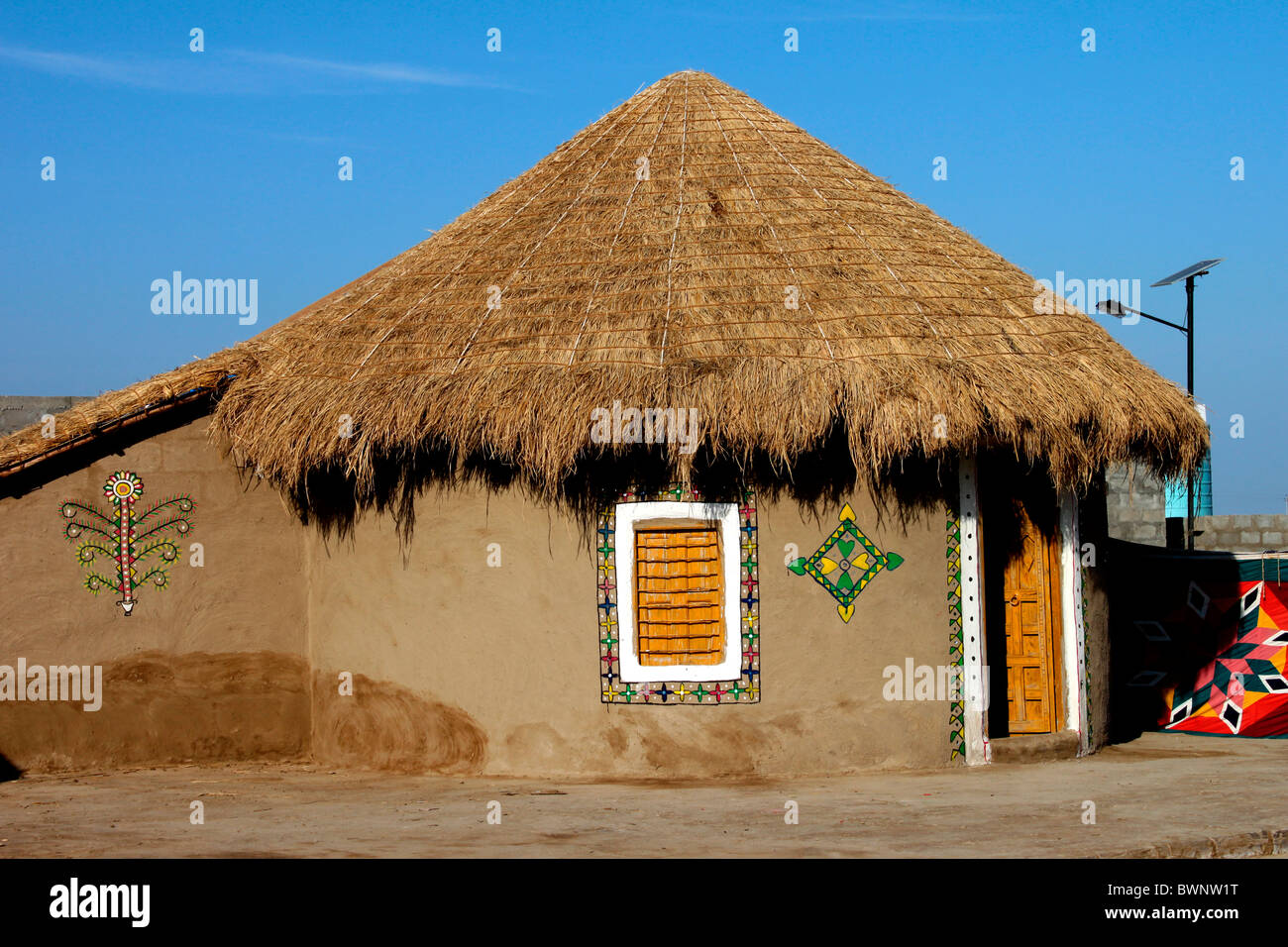 Mud House Of Kutch Gujarat India Stock Photo Royalty