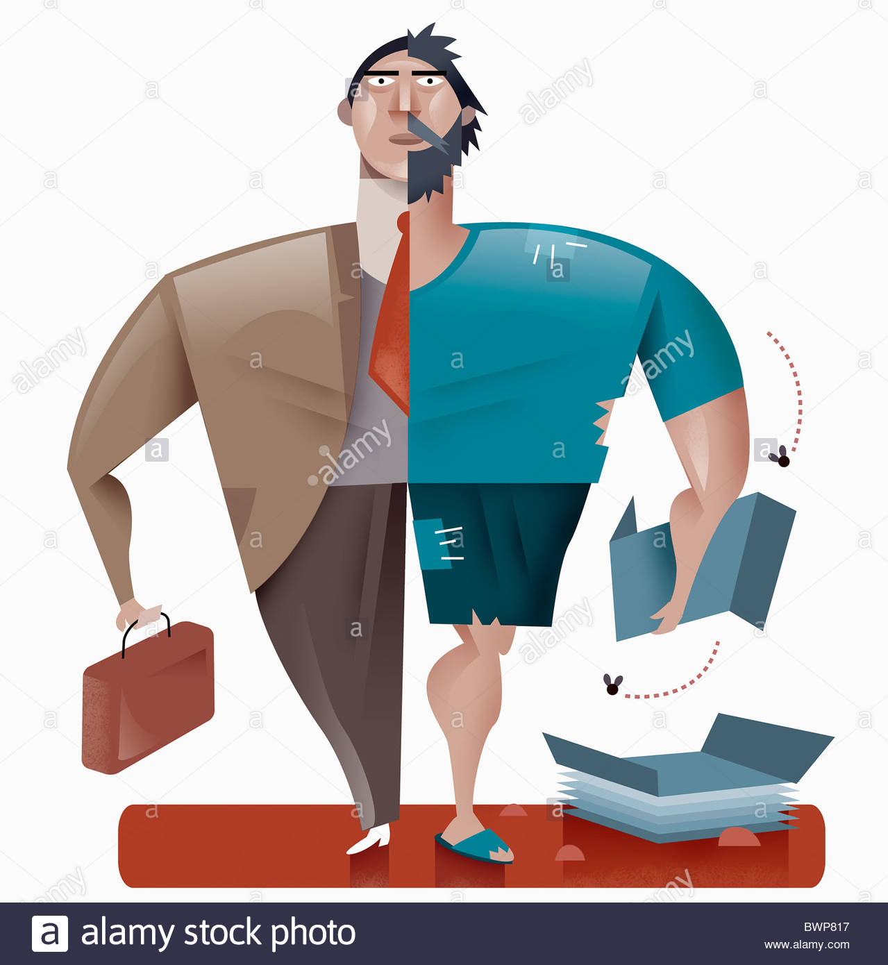 Rich and poor stock photos rich and poor stock images alamy half rich man half poor man stock image sciox Images