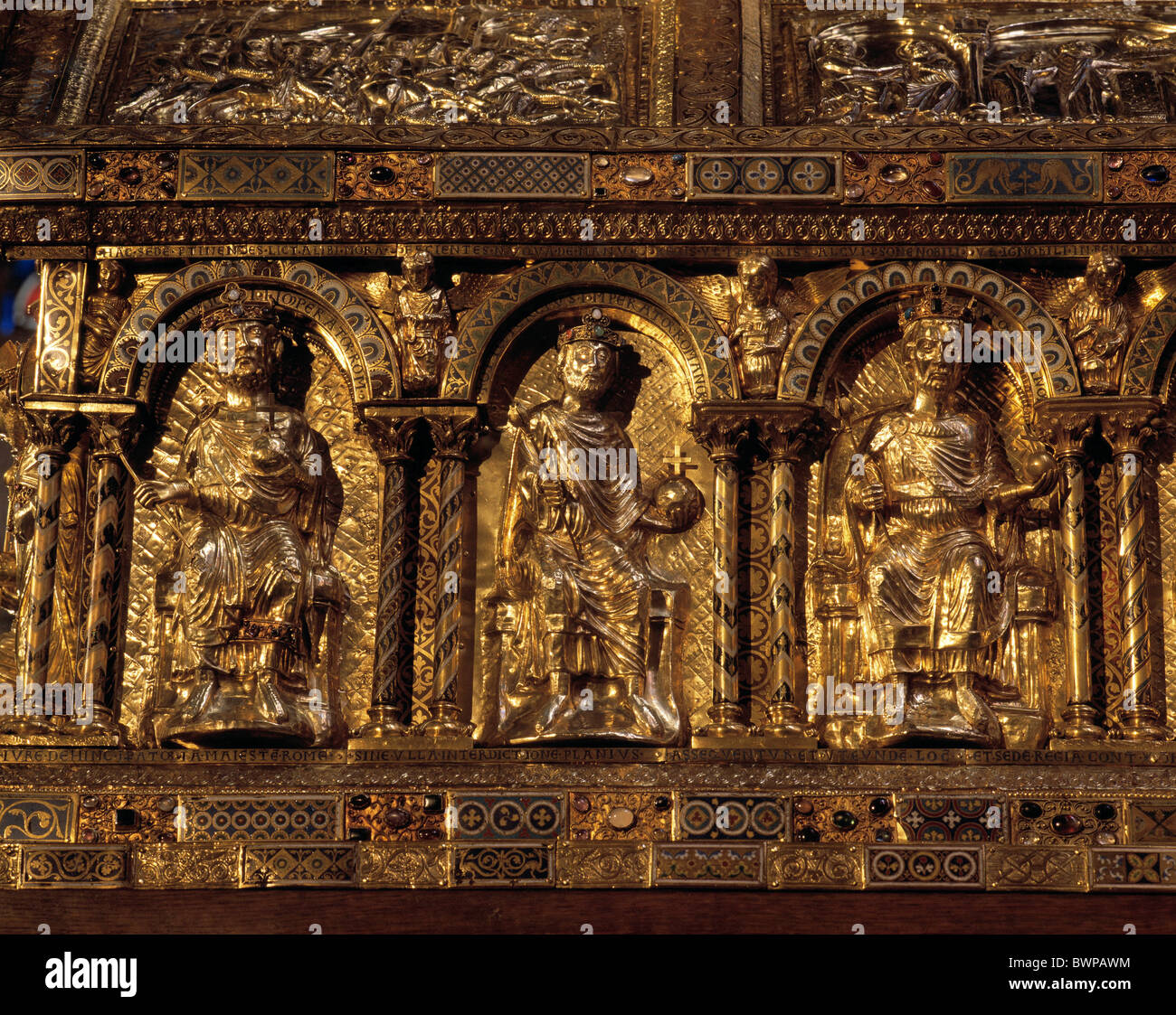 germany europe aix la chapelle aachen cathedral charlemagne charles the great shrine emperor rhineland north aix la chapelle cathedral