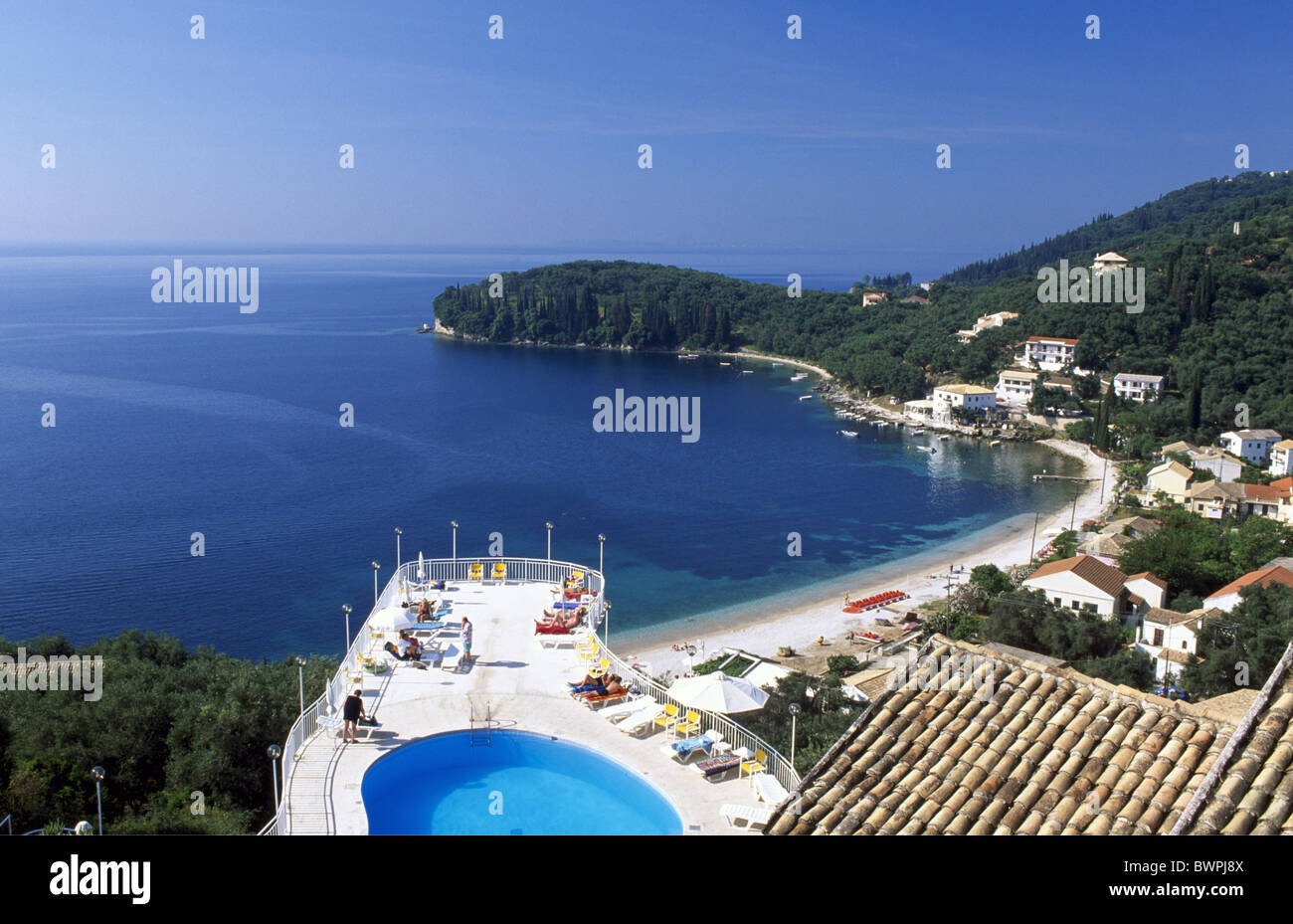 Greece europe corfu island kalami beach mediterranean sea view coast europe hotel island ionic islands lyin