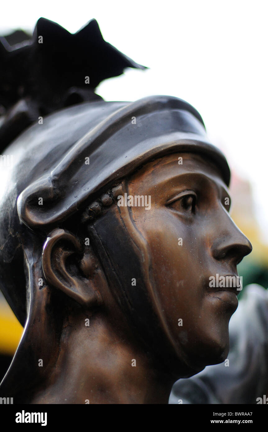 bronze statue of roman soldier stock photo royalty free image