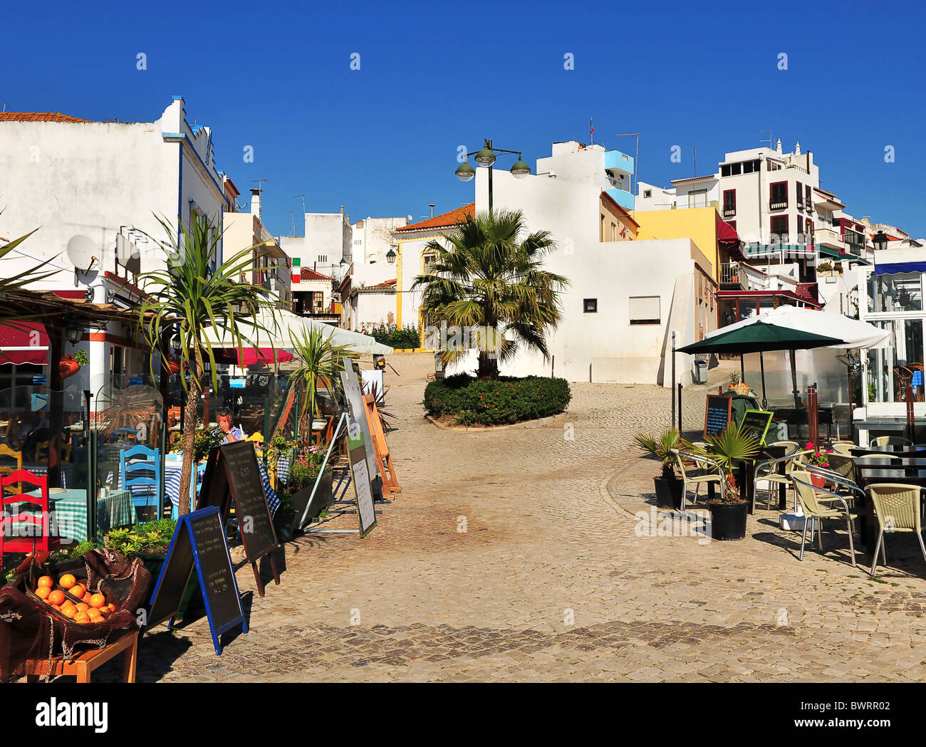 the small village and backstreets of alvor algarve. Black Bedroom Furniture Sets. Home Design Ideas
