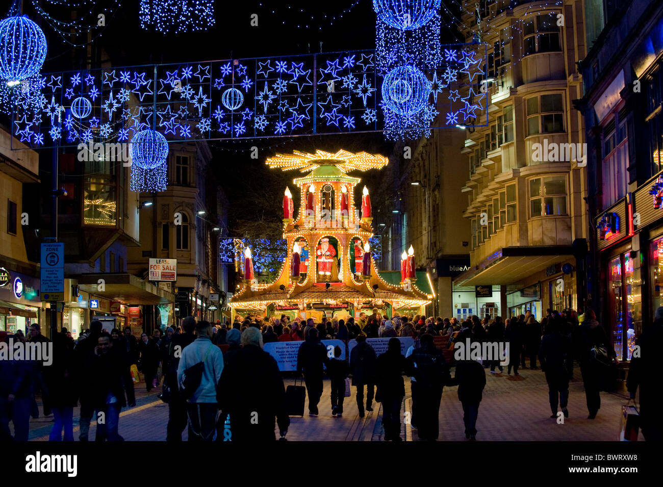 The Frankfurt German Christmas market in Birmingham England UK ...