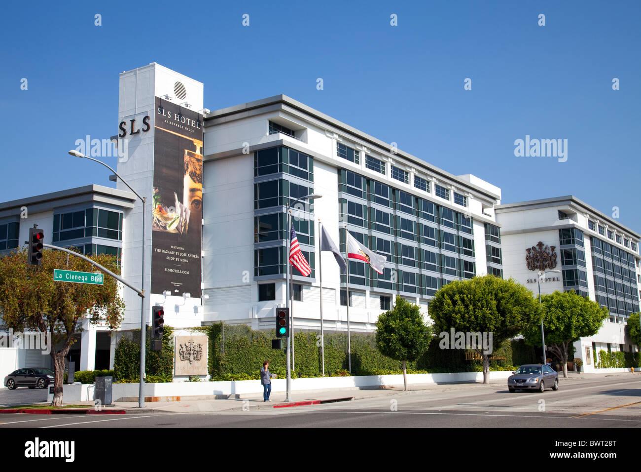 Sls hotel at beverly hills la cienega blvd los angeles california usa
