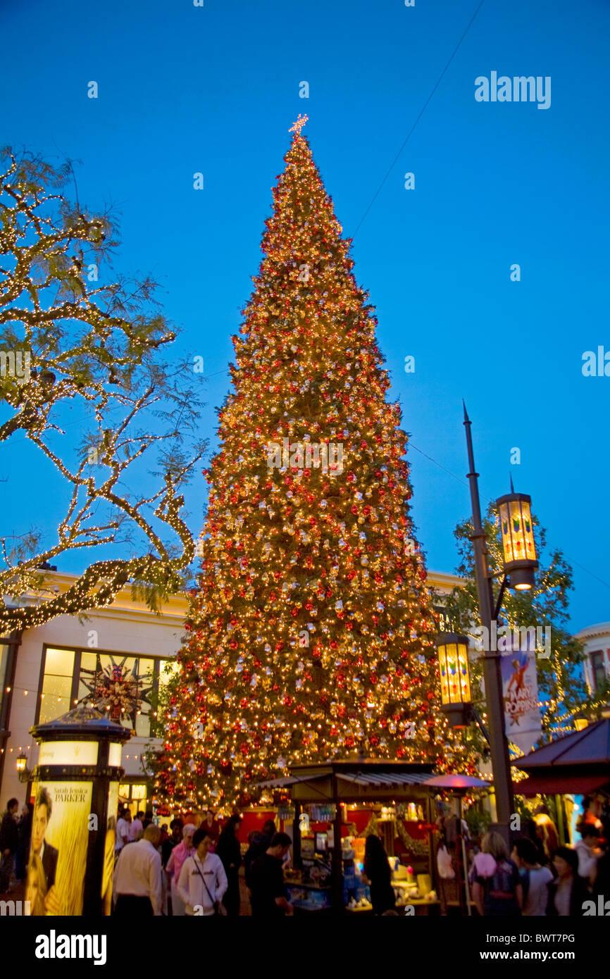 Christmas Tree at the Grove, Los Angeles, California, USA Stock ...