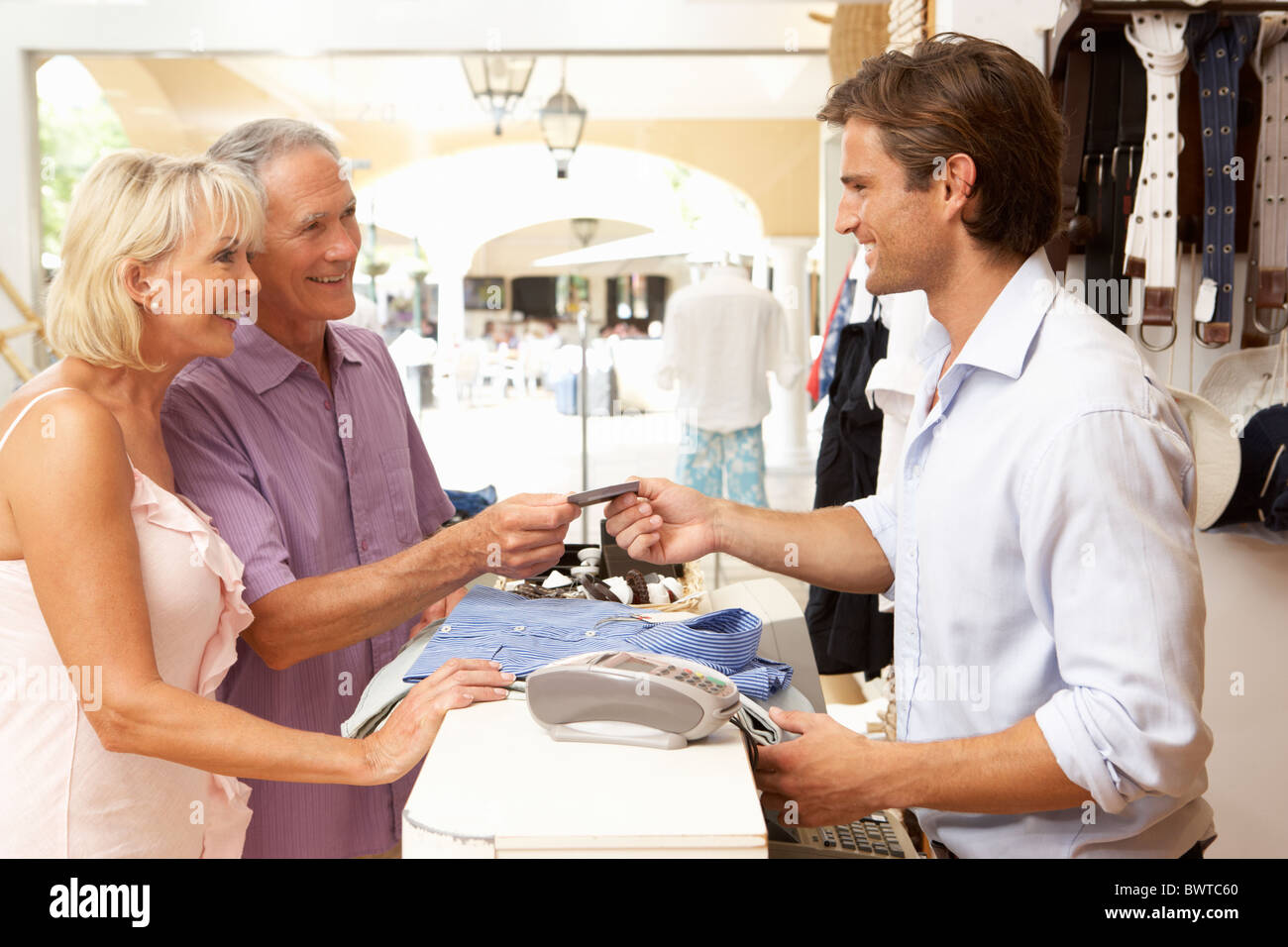 s assistant checkout clothing store customers stock photo s assistant checkout clothing store customers