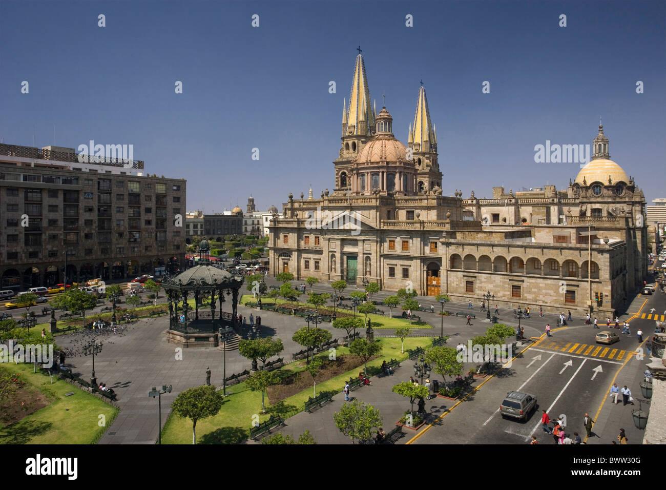 Mexico Central America America Guadalajara city old town ...
