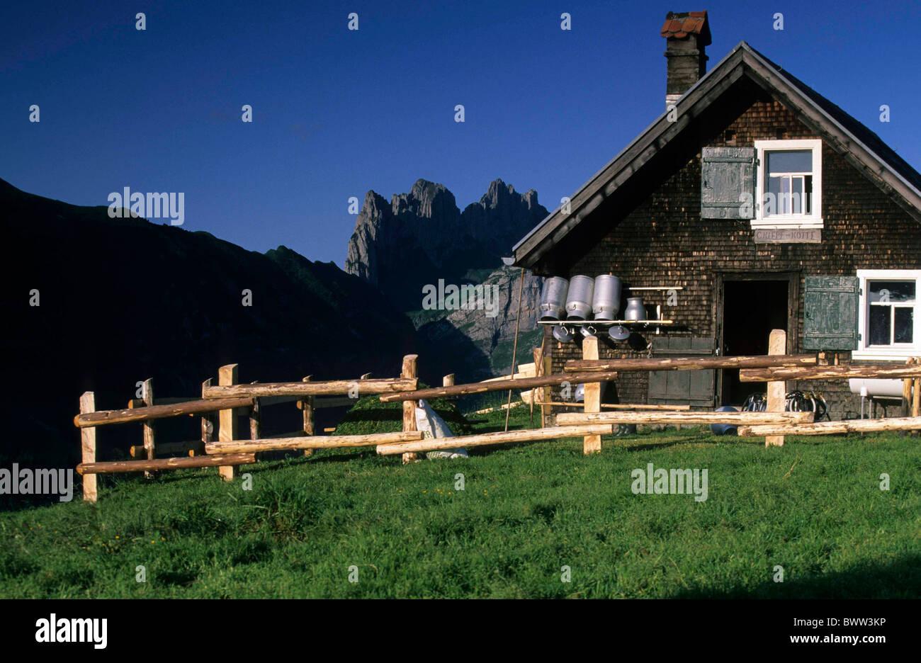 Switzerland Europe Canton Appenzell Innerrhoden Alpstein mountains