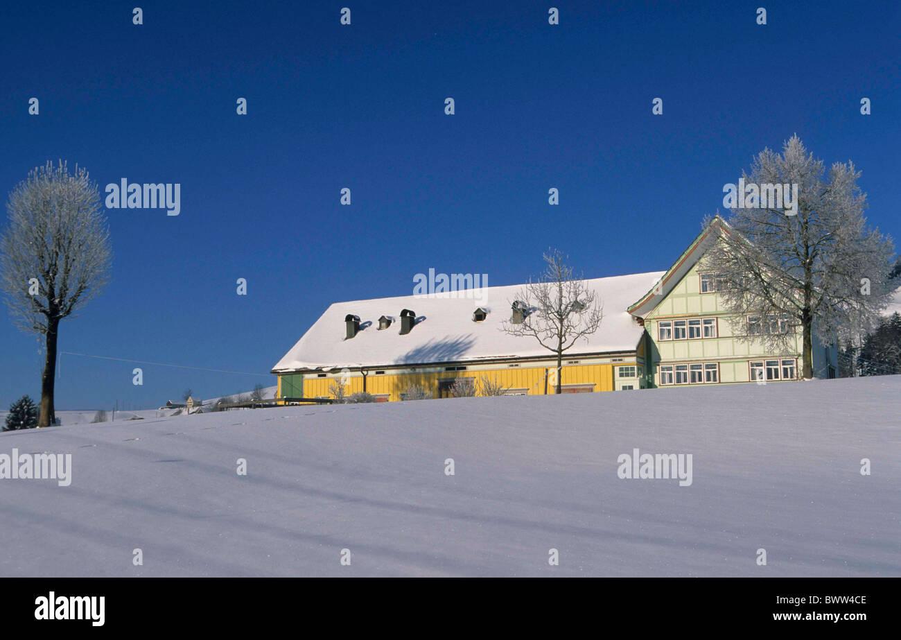 Switzerland Europe Canton Appenzell Ausserrhoden town Gais farm