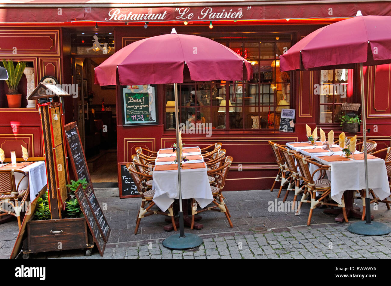 restaurant in boulogne sur mer in the pas de calais 62 departement stock photo royalty free. Black Bedroom Furniture Sets. Home Design Ideas