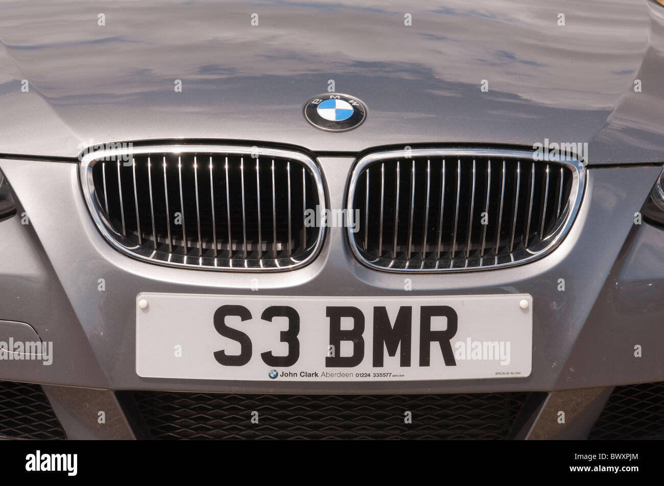 A personalised number plate on a BMW car reading BMR ( beamer ...