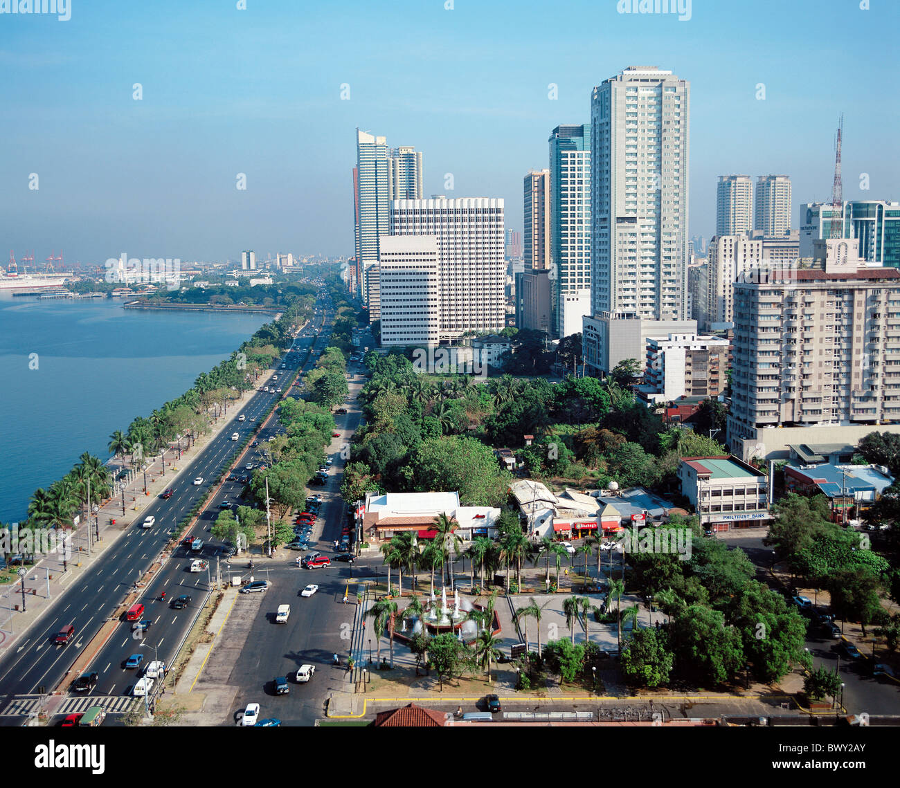 Malate Philippines  City pictures : Ermita Malate District Manila Philippines Asia Roxas Boulevard Stock ...