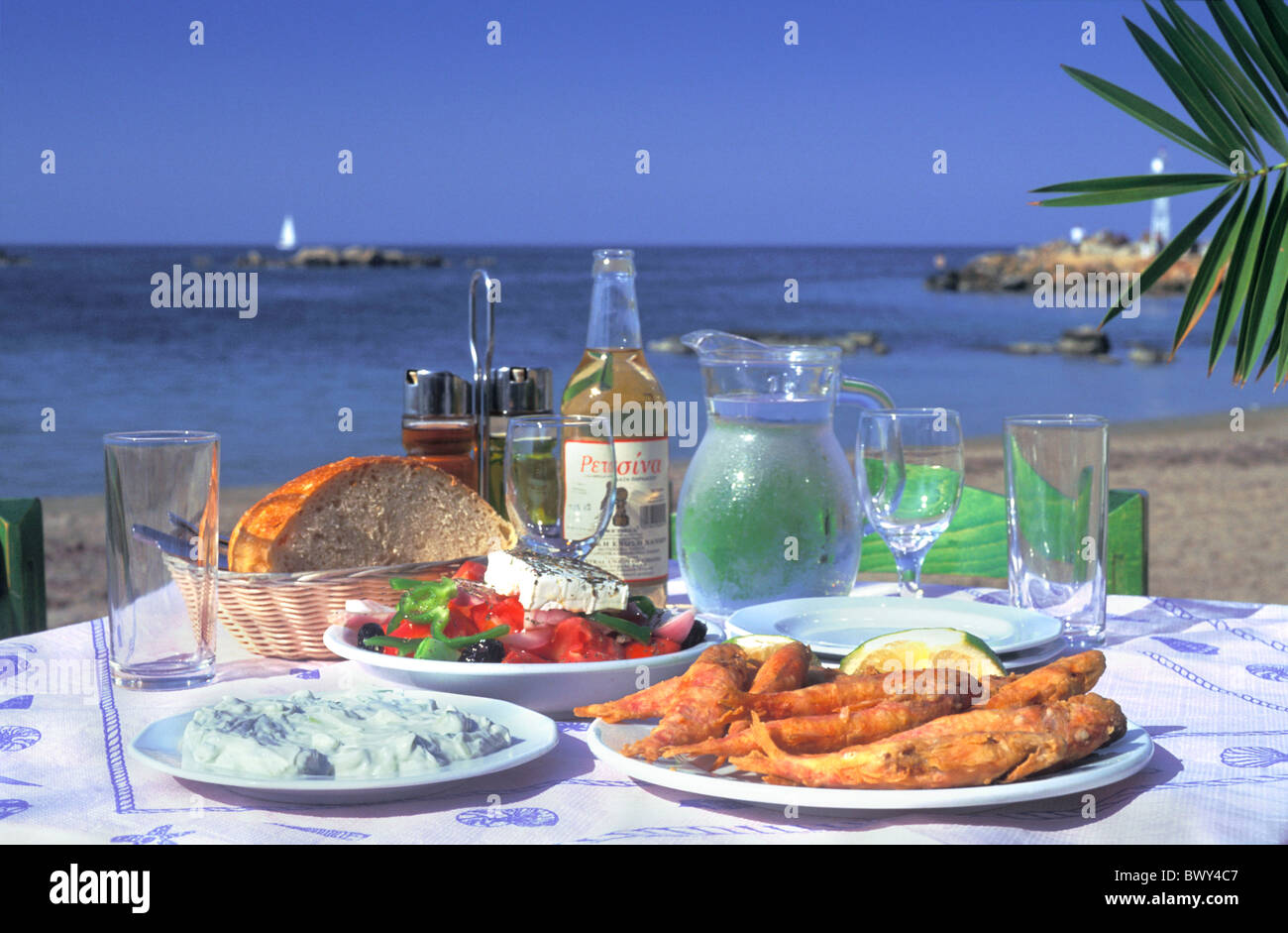 Bread cooking cuisine desk feta fish food greece europe for Apollon greek and european cuisine