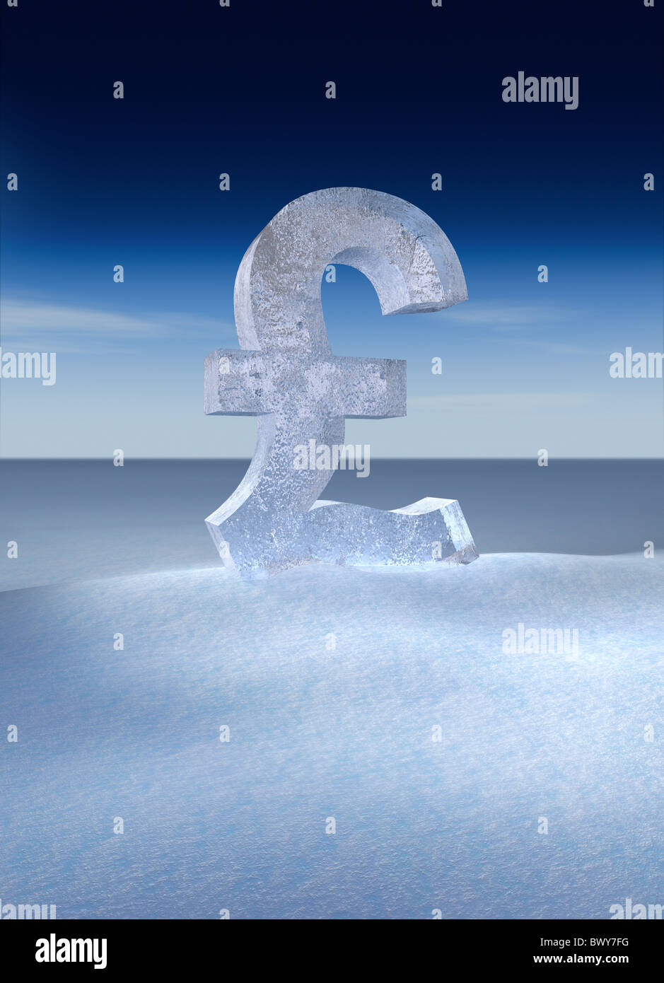 British pound currency symbol made out of block of ice in winter british pound currency symbol made out of block of ice in winter landscape biocorpaavc Images