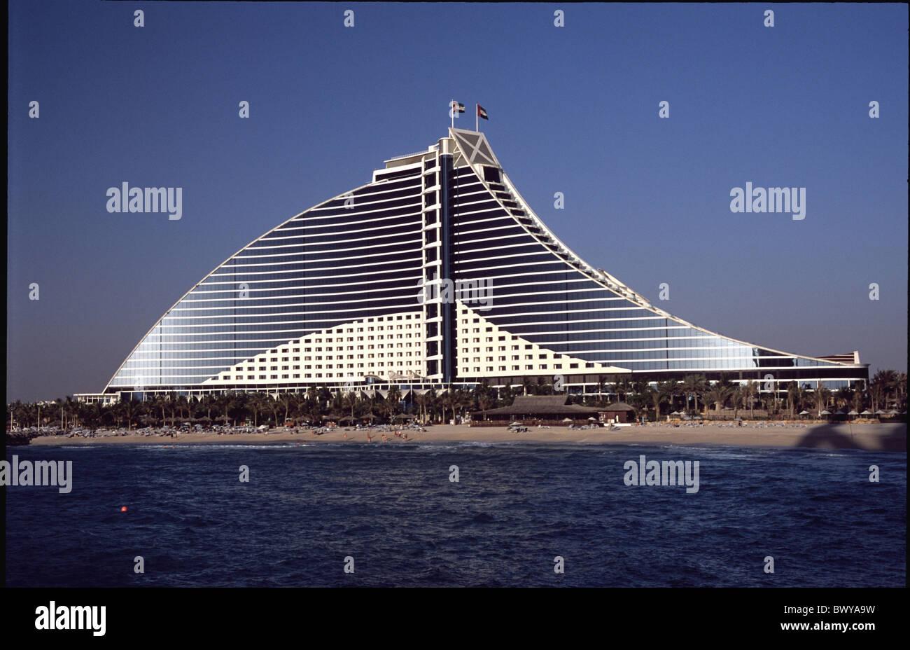 Architecture dubai uae arab emirates middle east hotel for Sailboat hotel dubai
