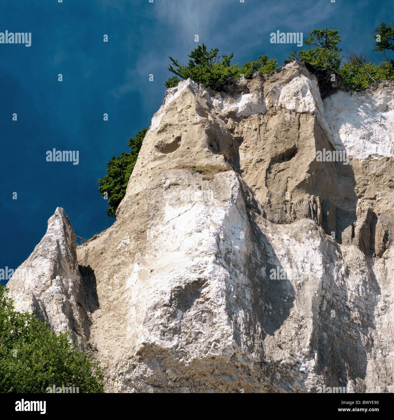 Denmark Europe rock cliff island isle Mon cliffs chalk ...