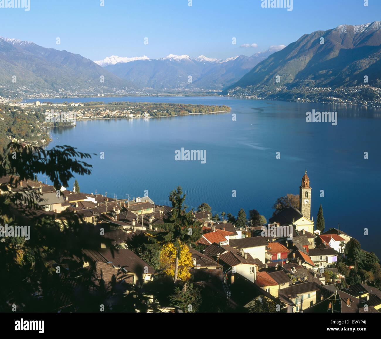 mountains village canton ticino lago maggiore lake sea. Black Bedroom Furniture Sets. Home Design Ideas