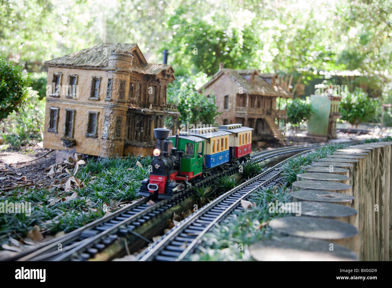 The New Orleans Botanical Garden Displays Miniature Trains U0026 Streetcars  That Travel Through A Replica Of The French Quarter