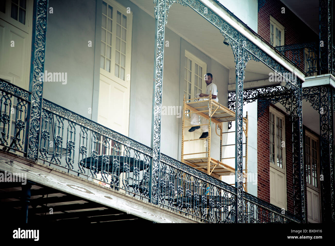 The Spanish Style Architecture Of The French Quarter In New Orleans Stock Pho