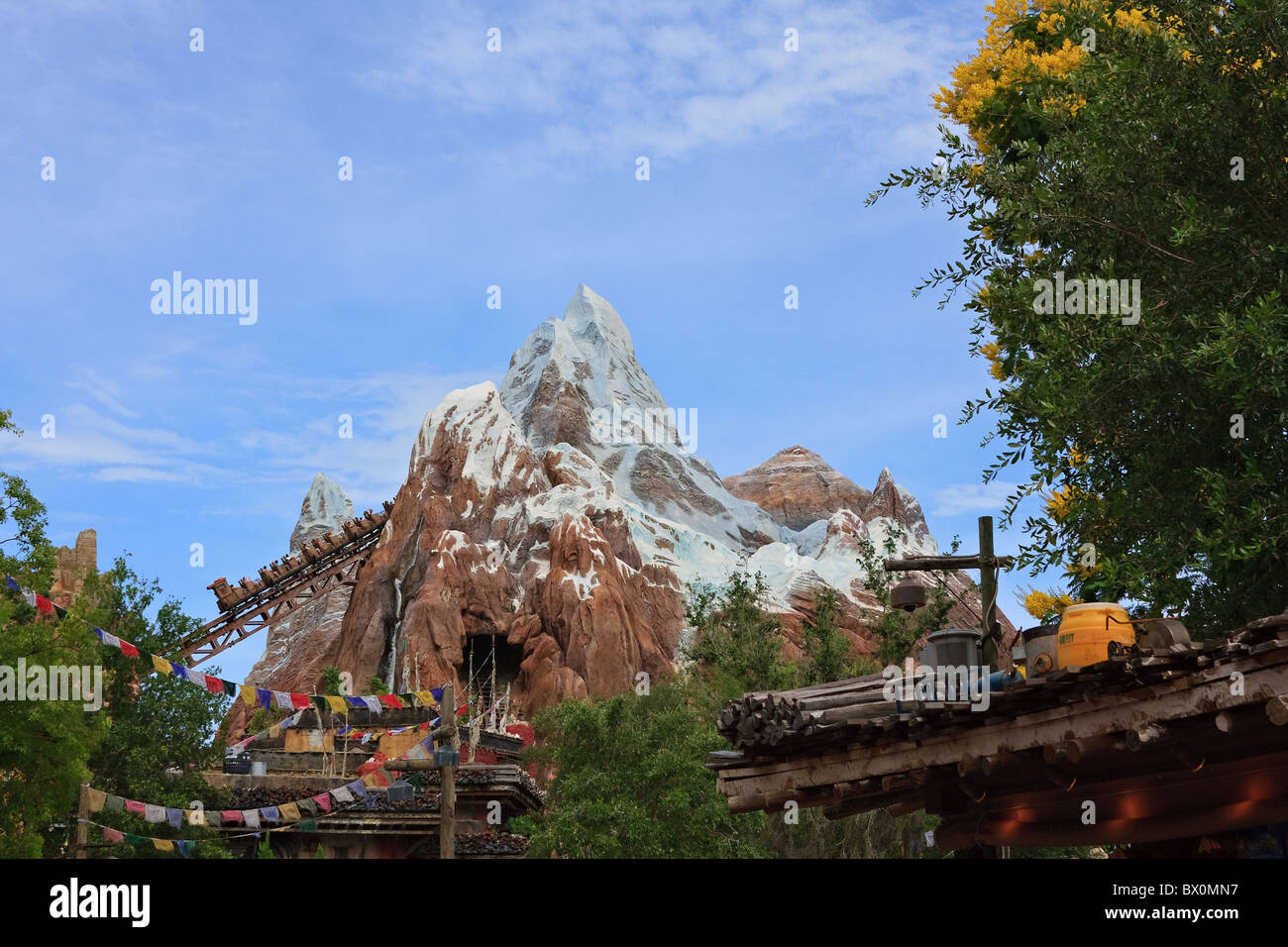 Expedition everest animal kingdom orlando florida view of expedition everest roller coaster ride seen from serka zong bazzar in disney world animal