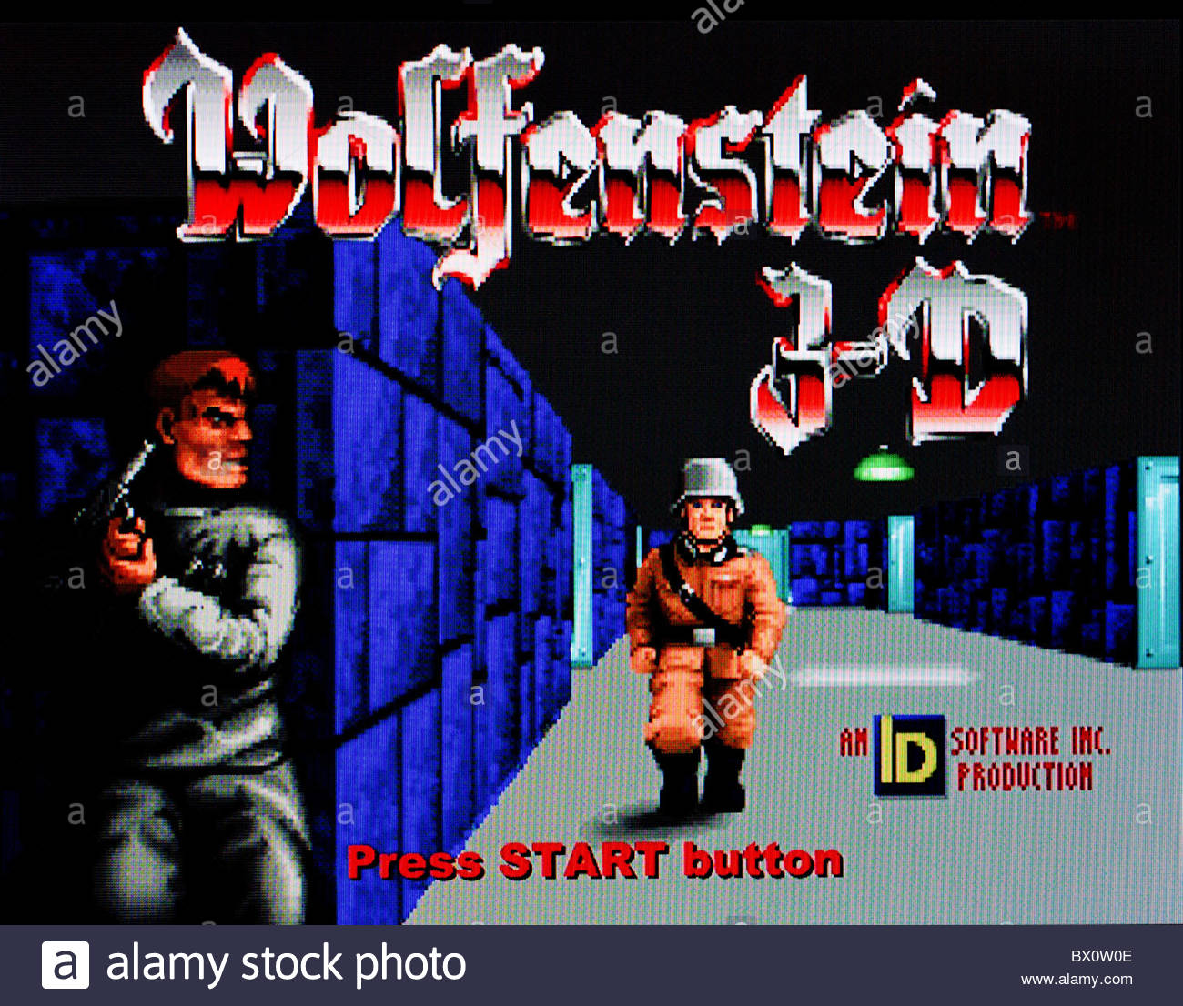 Wolfenstein 3d classic computer game title screen shot for Wolfenstein 3d