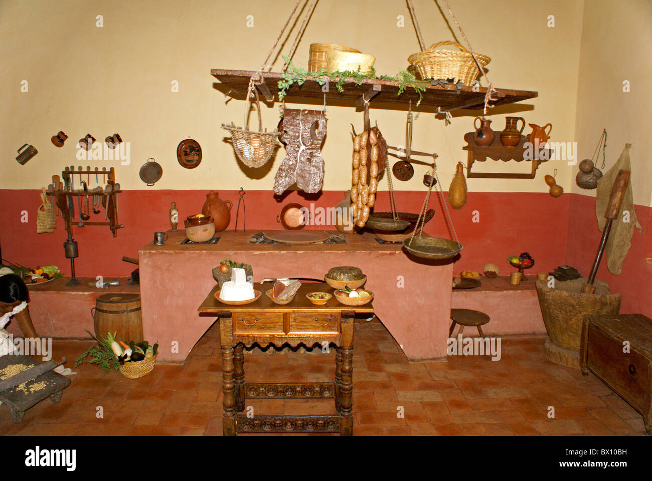 Replica of a traditional mexican kitchen or cocina museo replica of a traditional mexican kitchen or cocina museo historico de san miguel de allende in san miguel de allende mexico arubaitofo Image collections