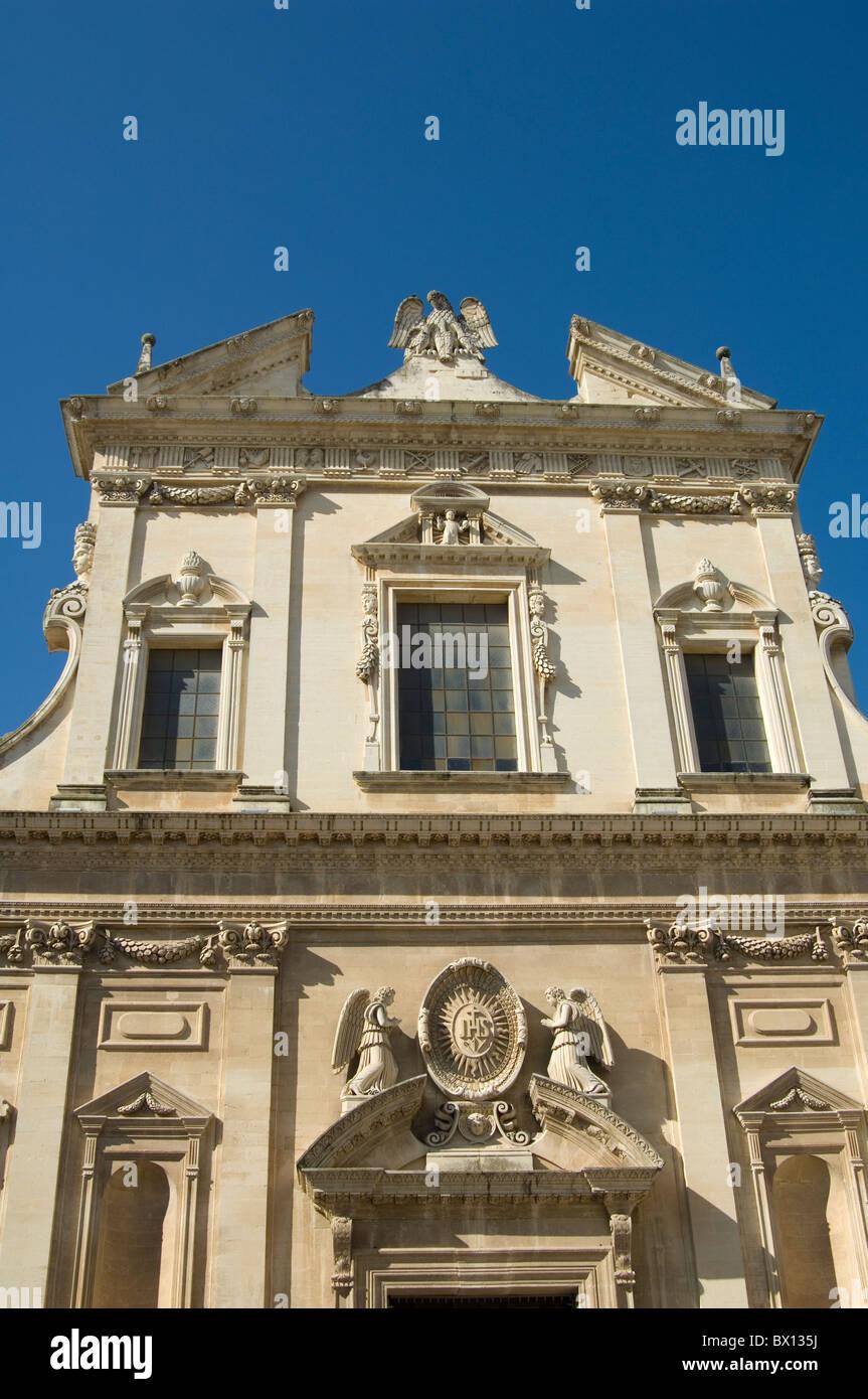 baroque architecture in lecce puglia italy stock photo, royalty