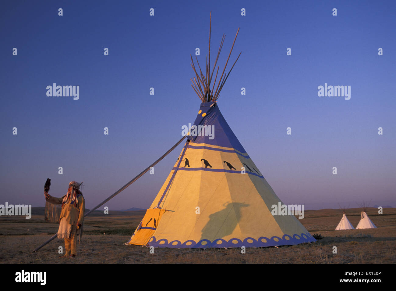 Blackfeet Indian Reservation Browning Darrell Norman tent native American tipi Montana USA America United S & Blackfeet Indian Reservation Browning Darrell Norman tent native ...