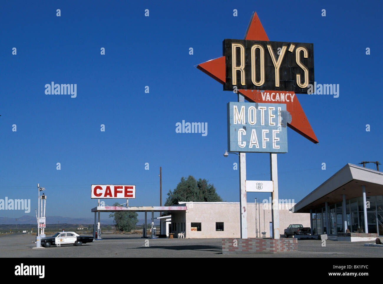 California Mojave Desert Old Route Roys Restaurant Motel Cafe - How old is the united states of america