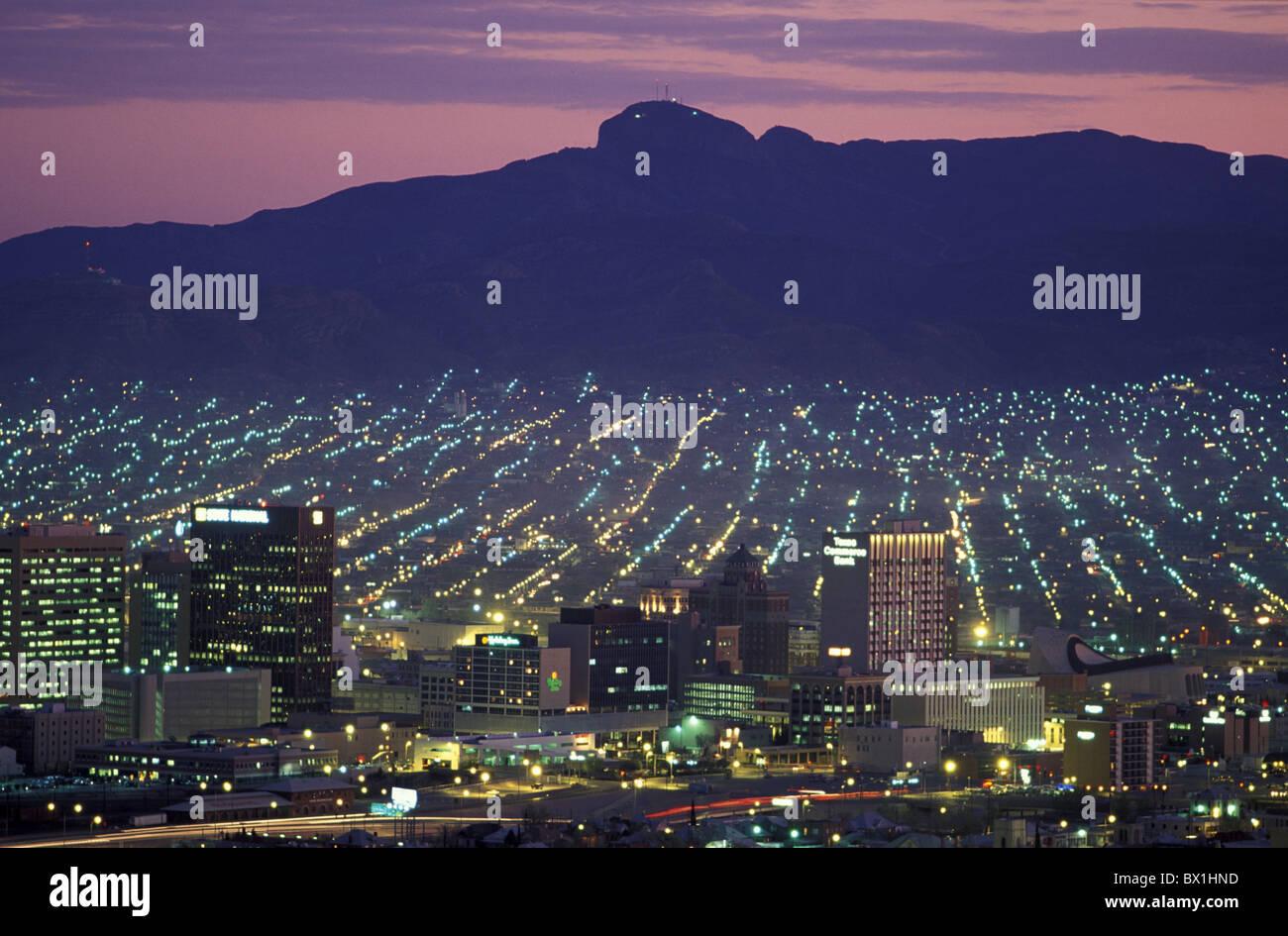 El paso texas usa america united states city lights night for El paso america