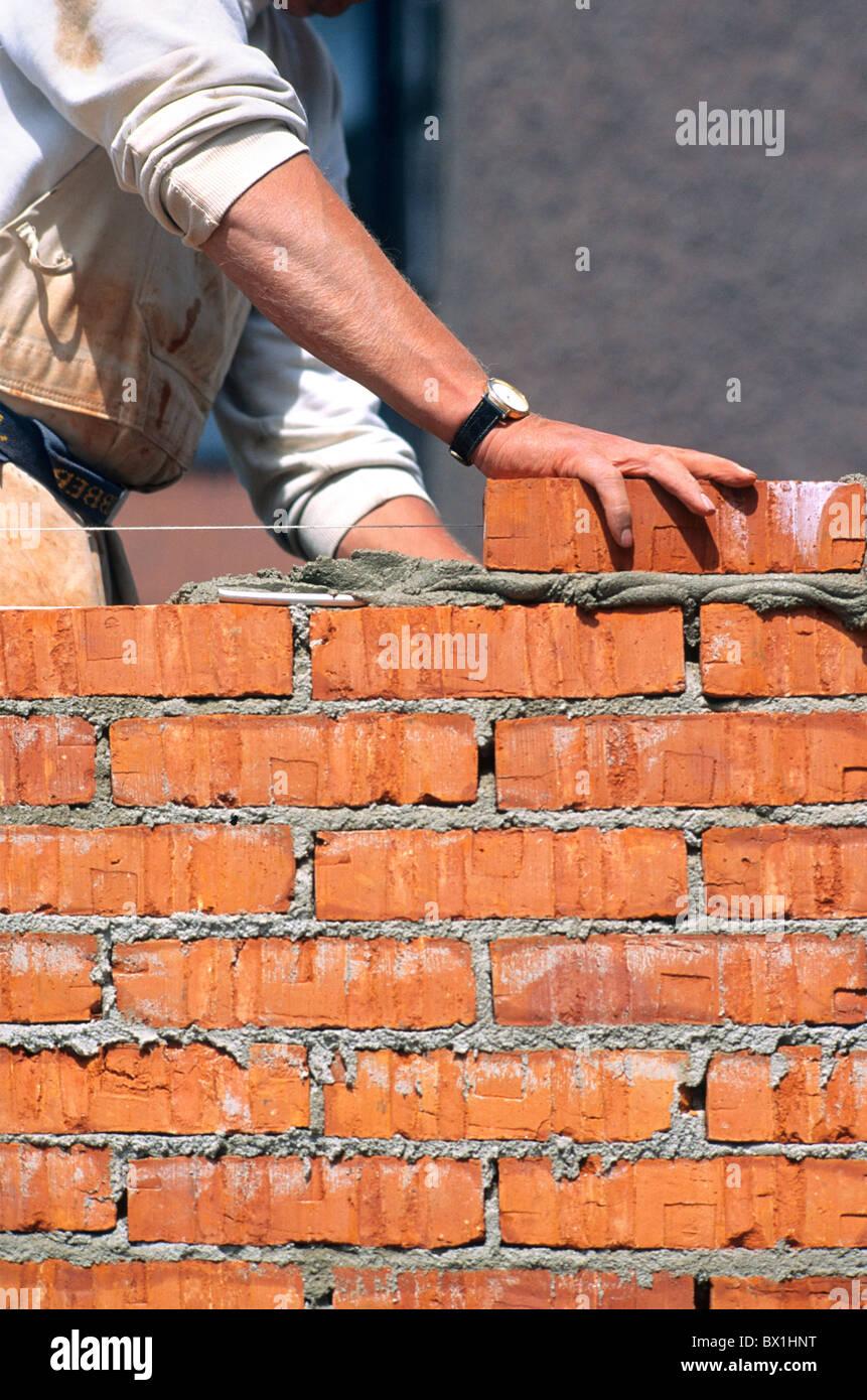 Man Building Brick Wall Person Activities Activity Walls Bricklayer Bricklayers B