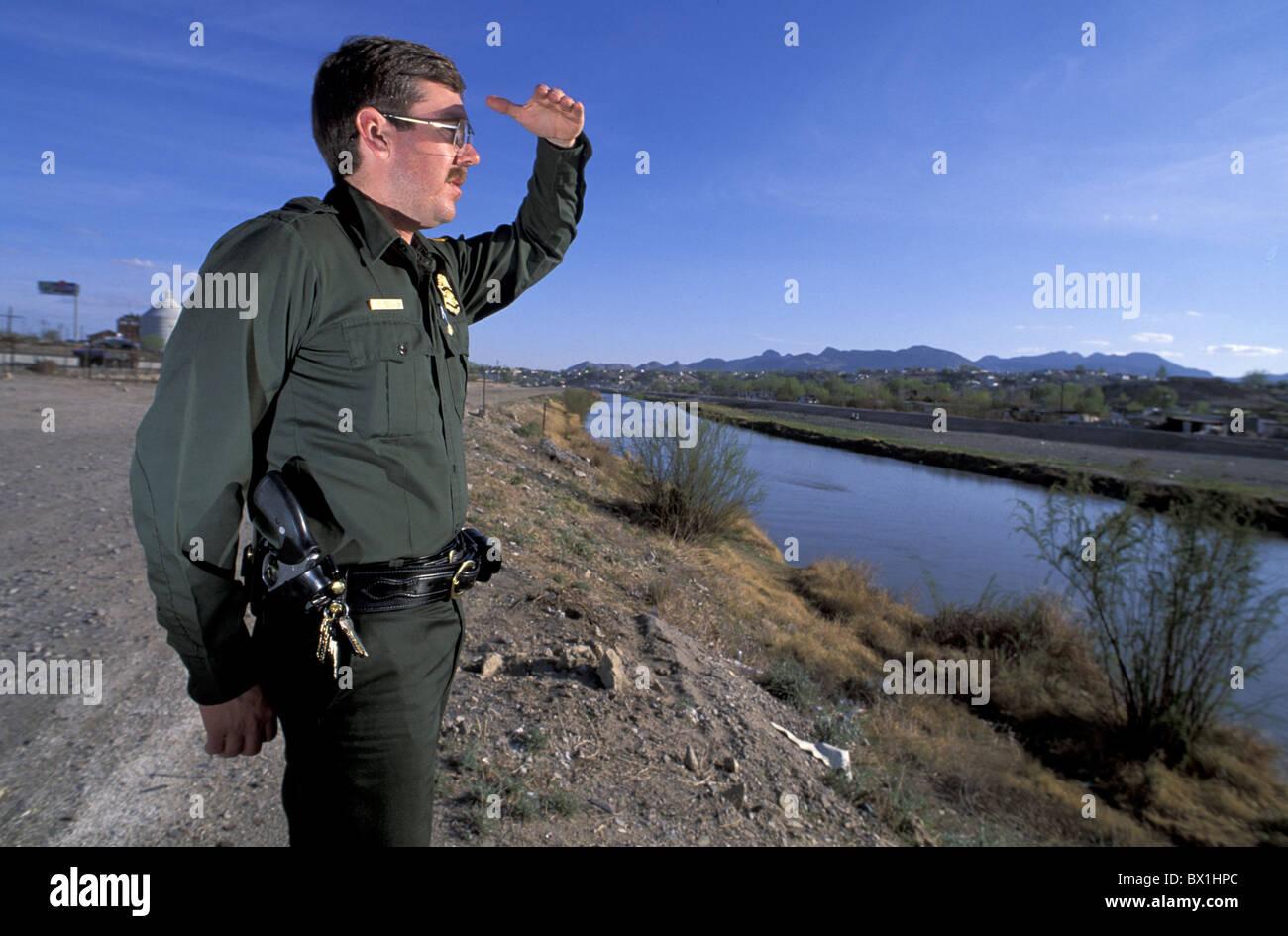 El Paso Texas Us Border Patrol Usa America United States