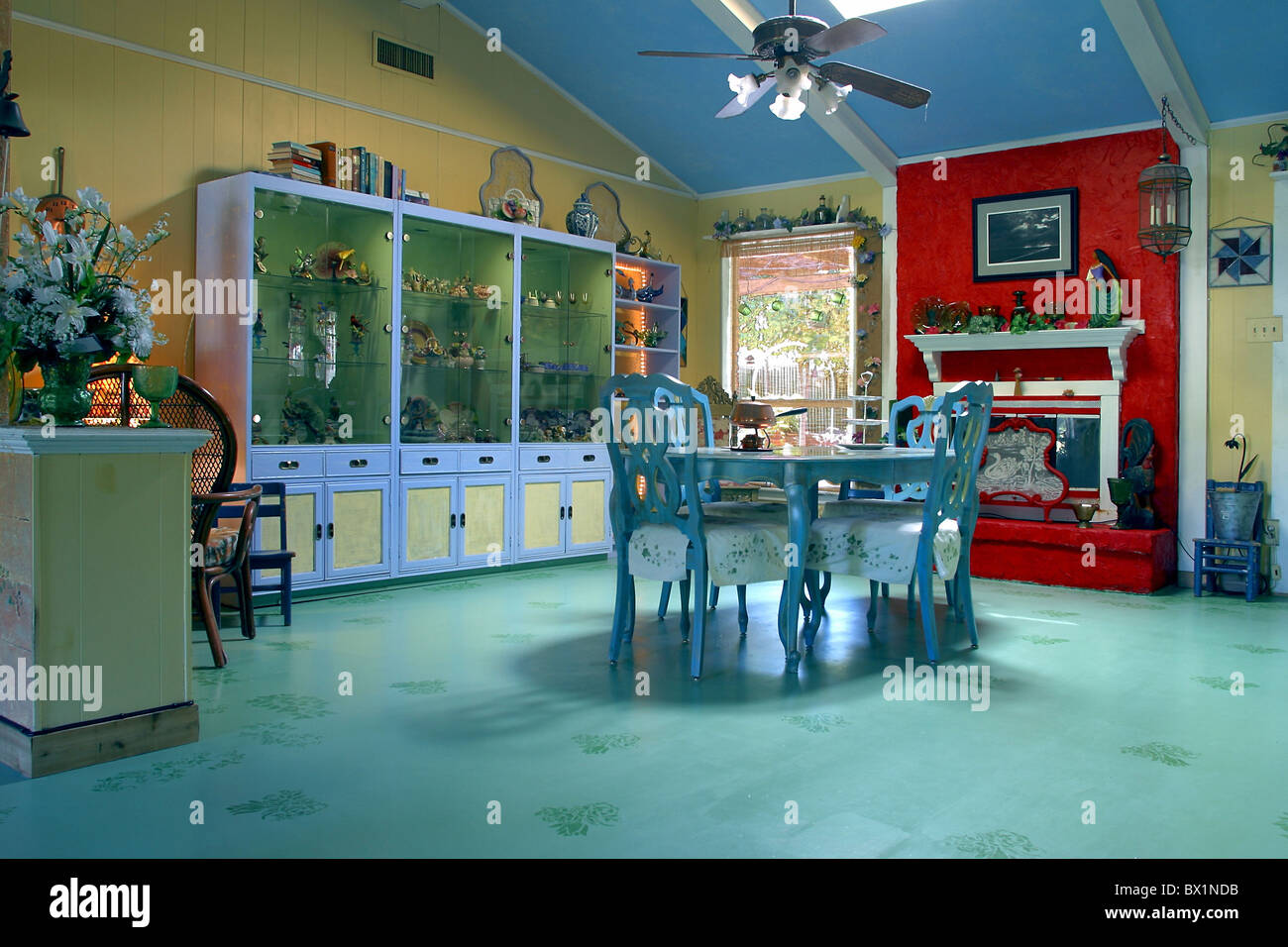 dining room house home inside equipment institution different