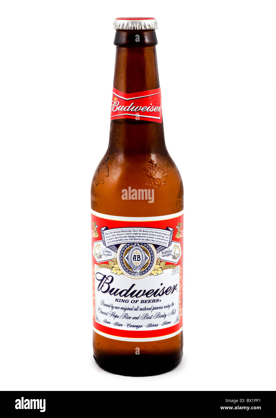 Bottle of ice cold budweiser beer usa stock photo royalty free image 33231045 alamy - Budweiser beer pictures ...
