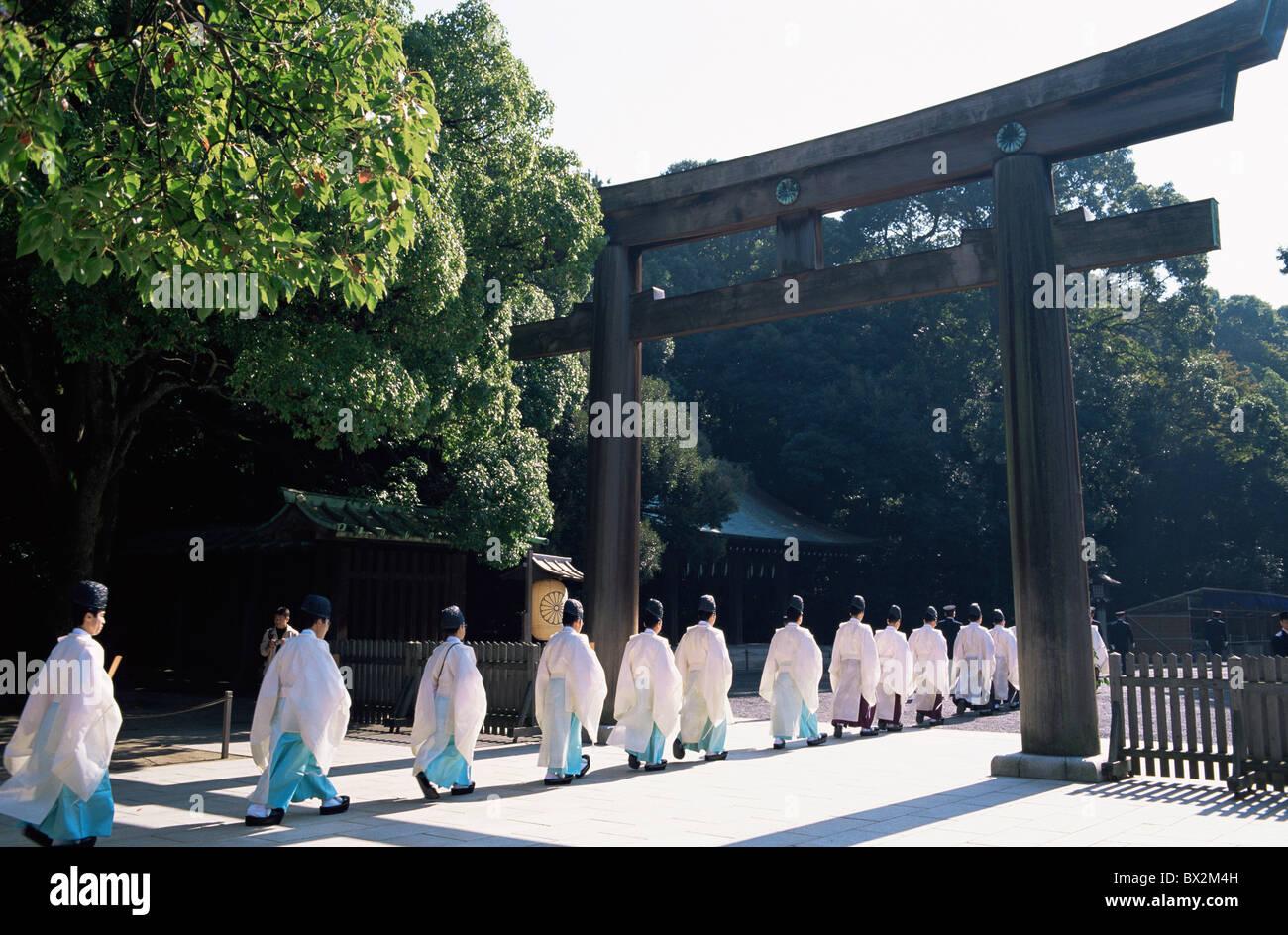 Asia Japan Asia Honshu Tokyo Meiji Shrine Priests Shinto Shintoism - Shinto religion