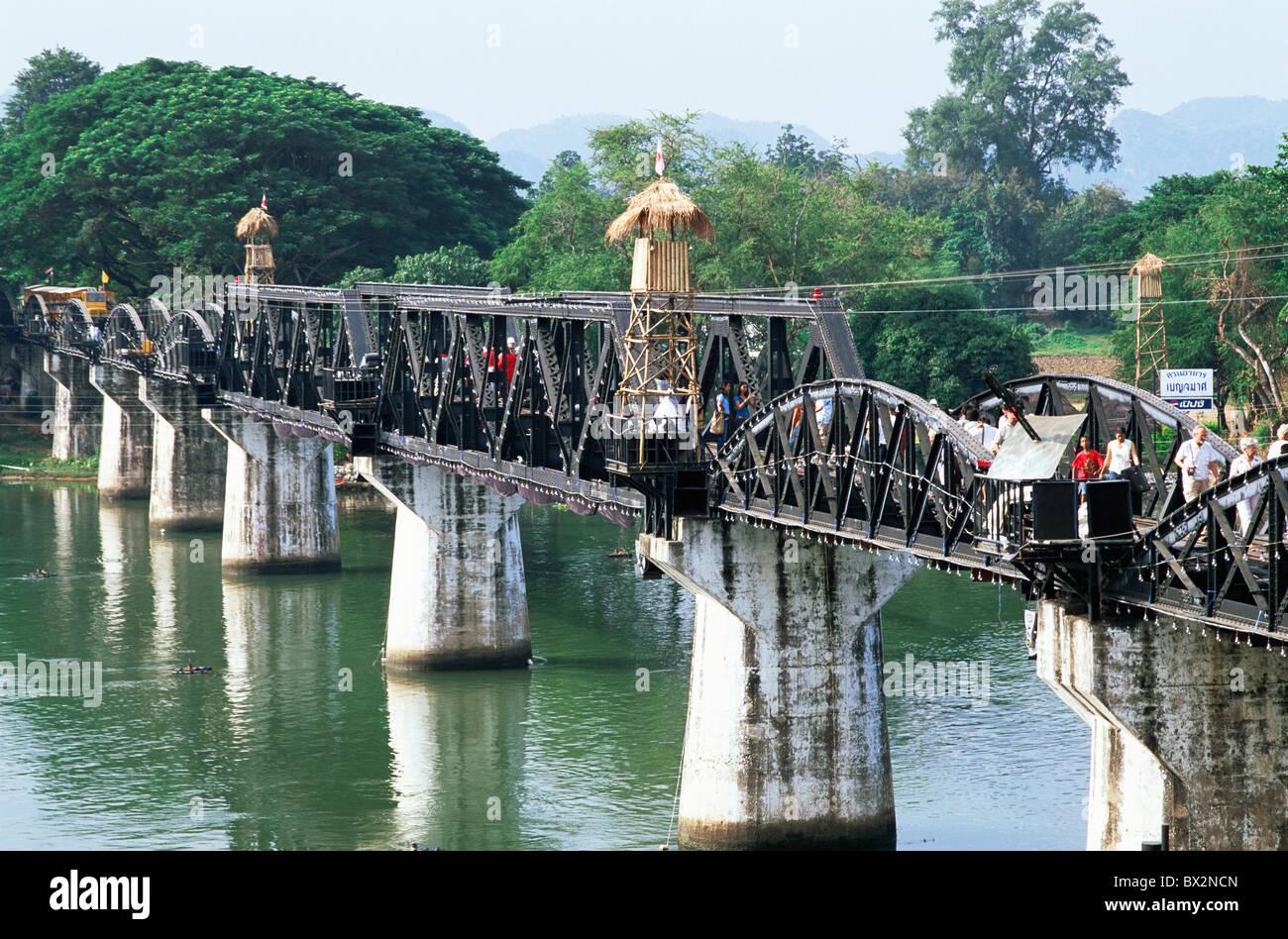 Asia Thailand Kanchanaburi Bridge over the River Kwai River Kwai Stock Photo,...