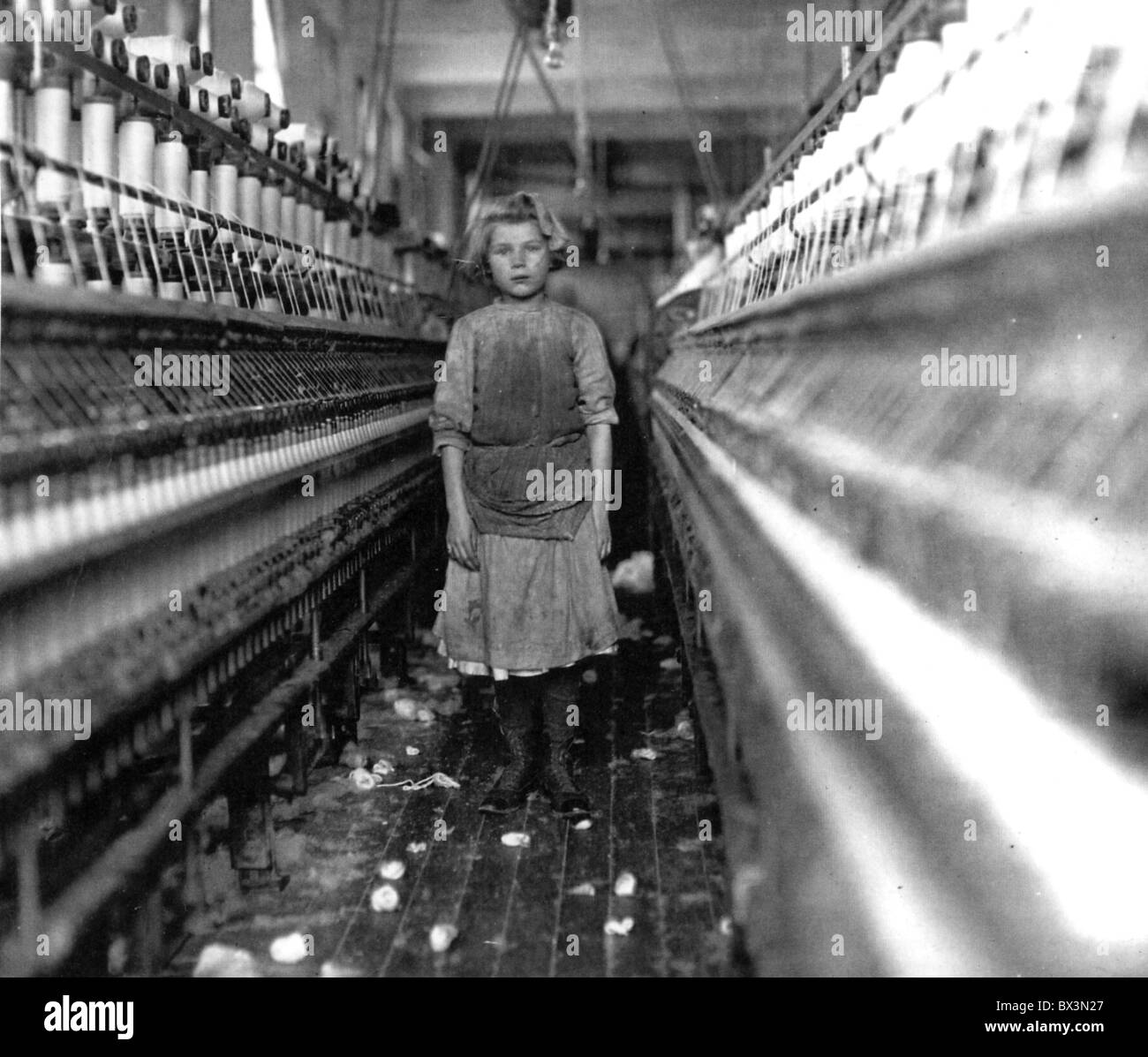 American Child Labour In A Cotton Spinning Mill