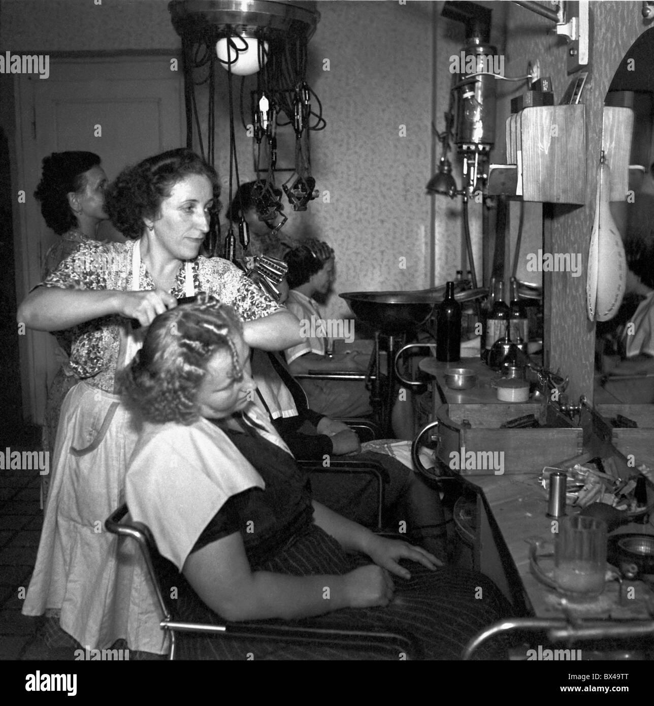 Czechoslovakia prague 1950 train station based for 1950 s beauty salon