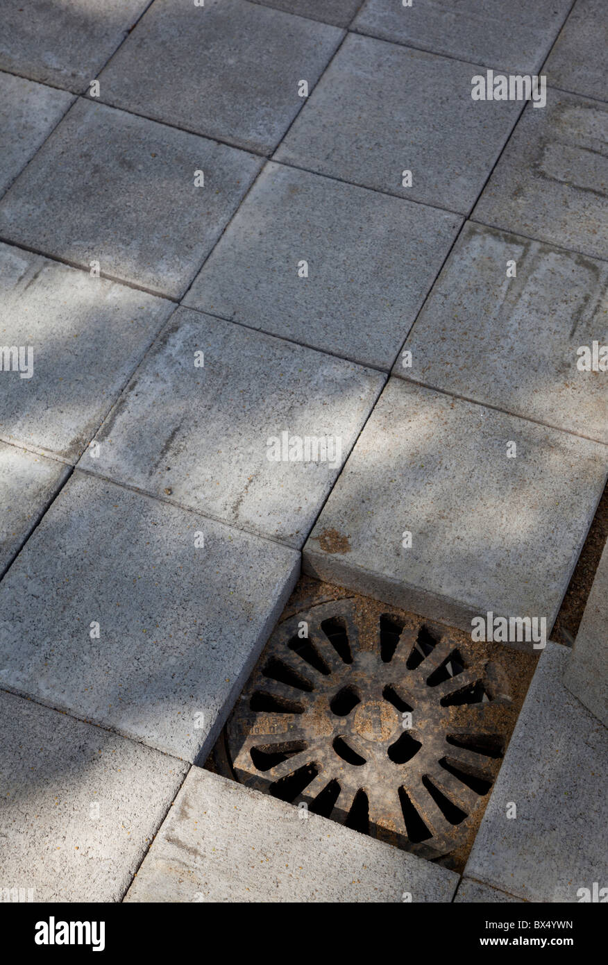 Rainwater drain hole on concrete tile floor stock photo 33301121 rainwater drain hole on concrete tile floor dailygadgetfo Gallery