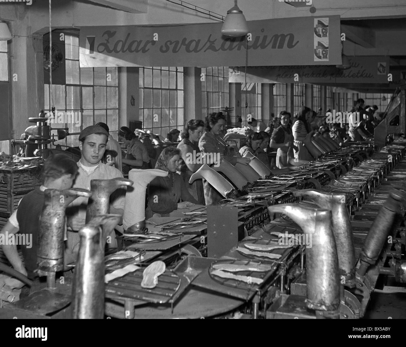 Shoe Factory: Gottwaldov 1950. Shoe Factory Workers