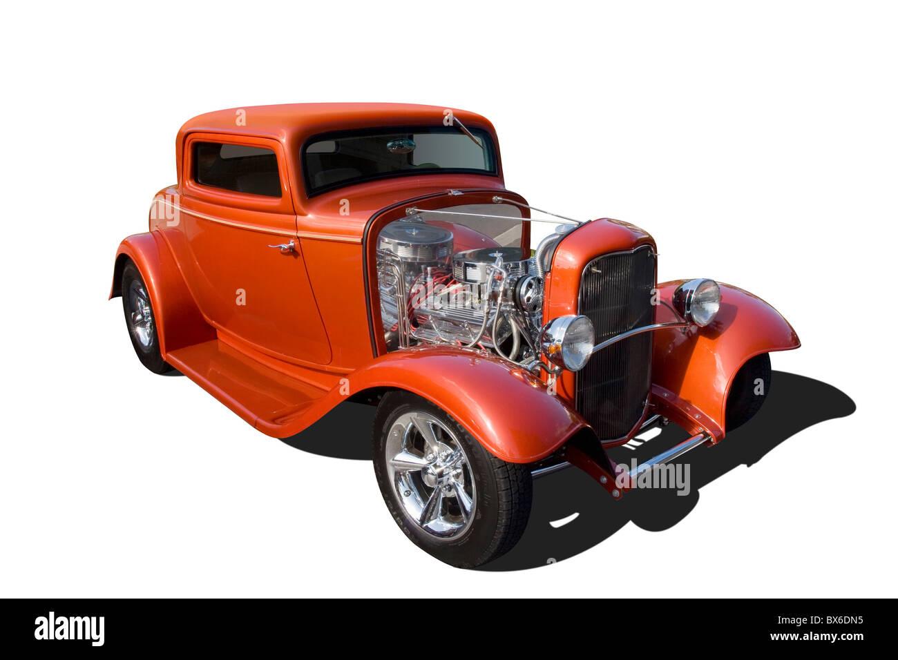Auto- 1932 Ford Hot Rod. Red. Springfield, Ohio, USA Stock Photo ...