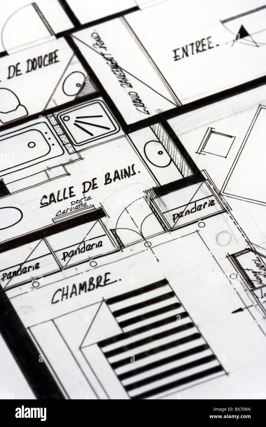 apartment blueprints in french stock photo royalty free image apartment blueprints in french
