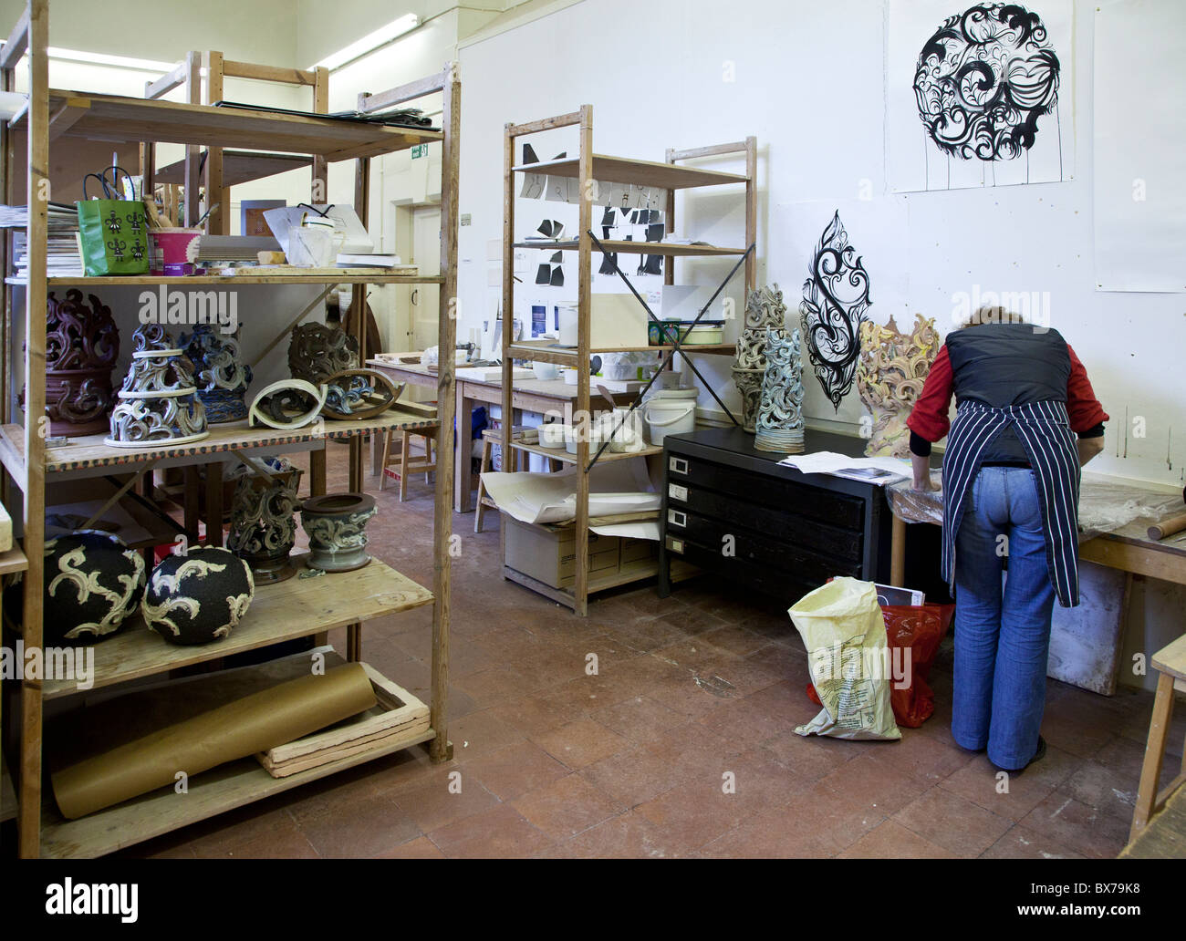 Ceramic Studio At Corsham Court In Wiltshire Home To Bath School Of Art And Design Academy Part Spa University