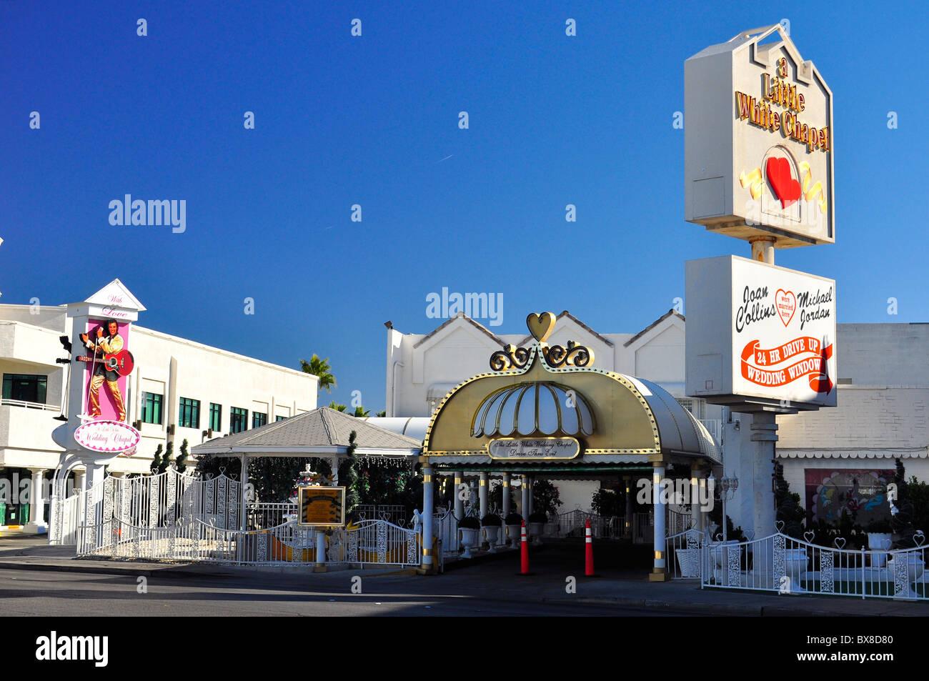 Drive Through Wedding Chapel In Las Vegas Nevada Usa
