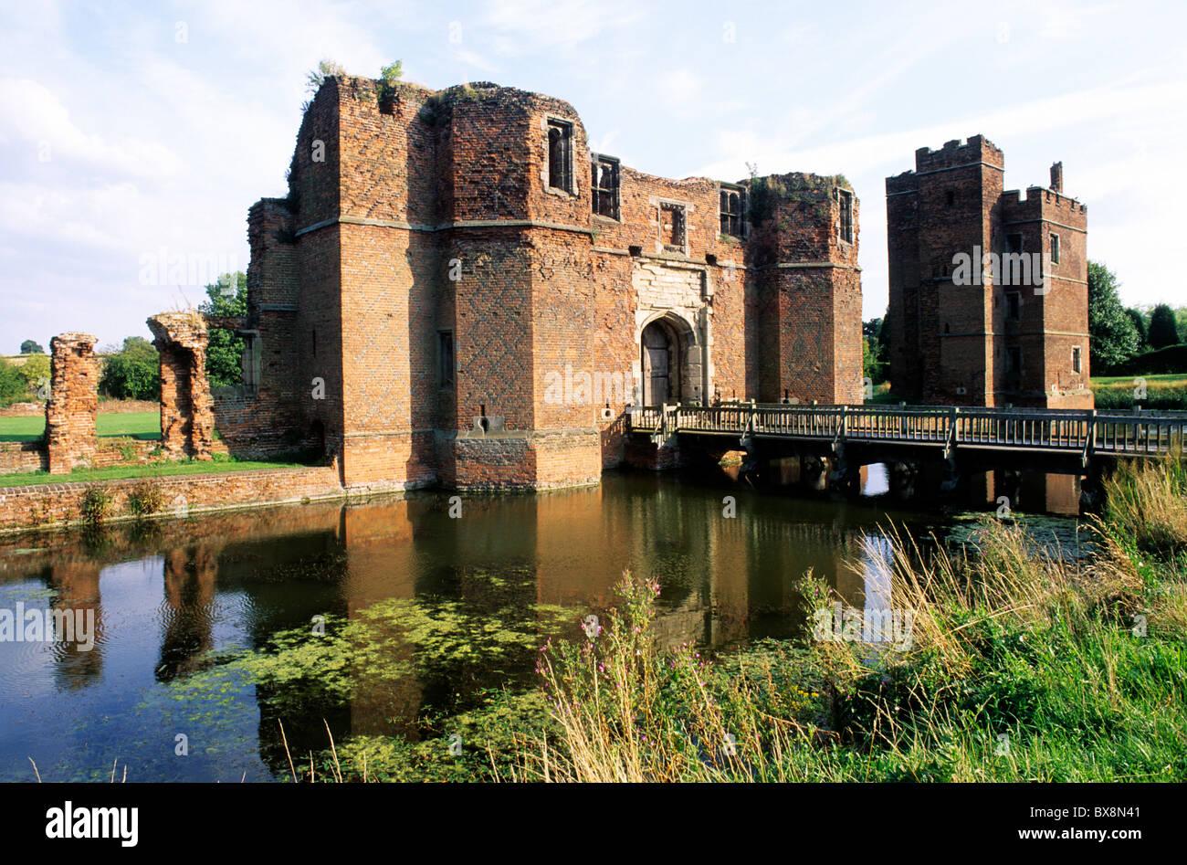 Kirby Muxloe Castle Leicestershire Moat Ruined