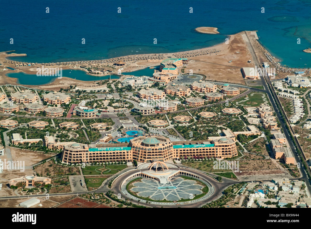 View Of Coastal Luxury Hotels Resorts In Hurghada Red Sea Egypt - Map of egypt hotels