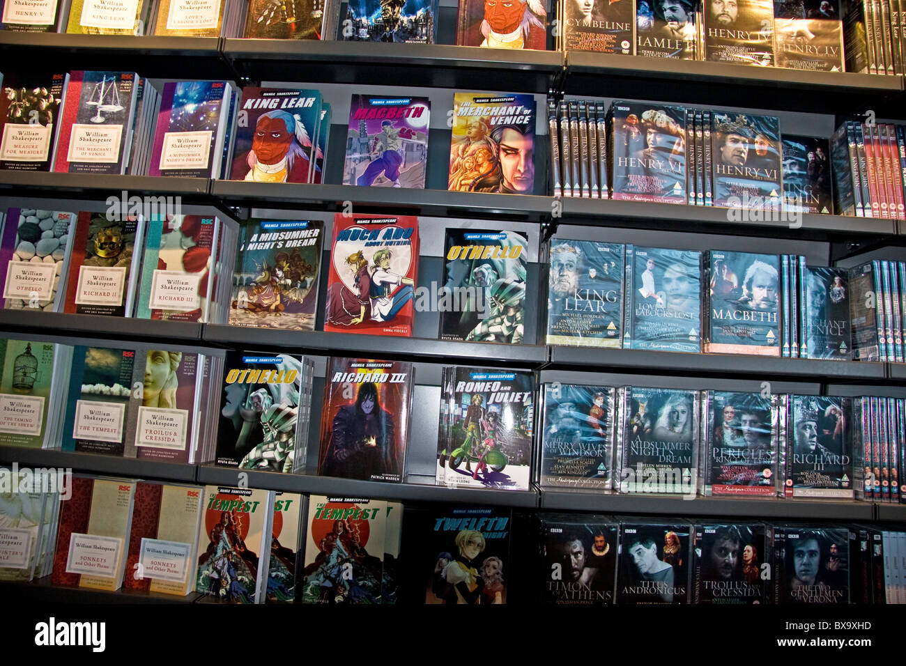 Shakespeare books, Manga books and DVDs on sale in RSC