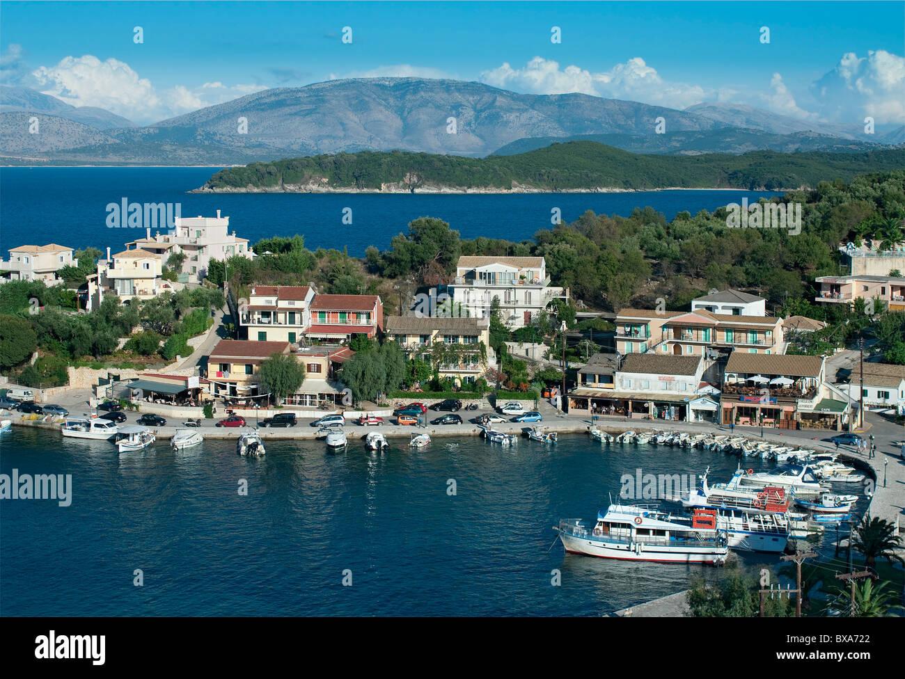 Kassiopi Harbour, Corfu, Greece Stock Photo, Royalty Free ...