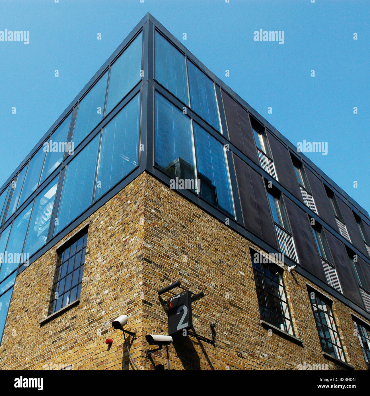 Modern Office Roof Extension To Converted Factory Building The Borough  South London UK